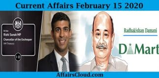 Current Affairs Today February 15 2020 new