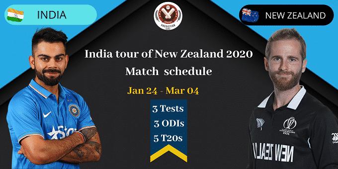 India Vs Newzealand T20I series 2020