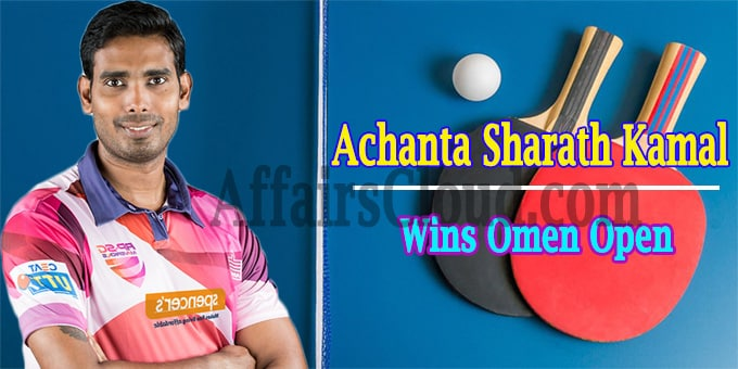 Achanta Sharath Kamal clinches men singles