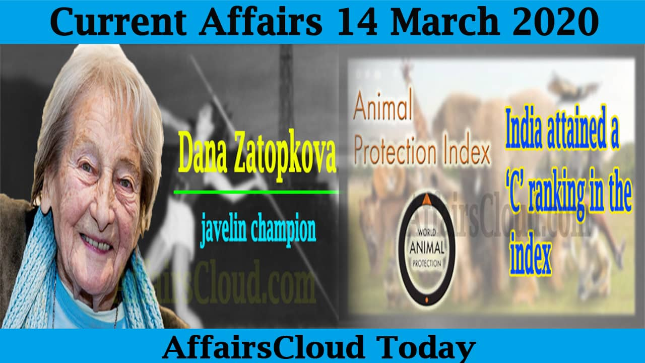 Current Affairs 14 March 2020 by AffairsCloud