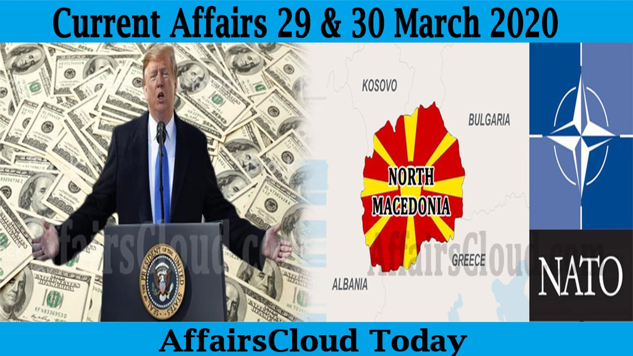 Current Affairs 29 & 30 March 2020 new