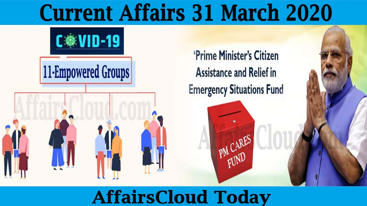 Current Affairs March 31 2020