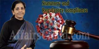 Finance Minister Statutory and Regulatory compliance