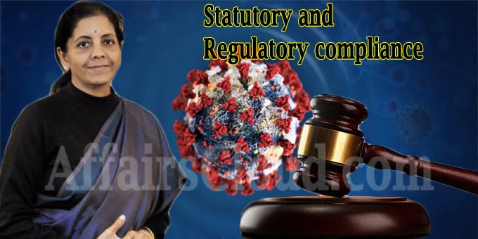 Finance Minister Statutory and Regulatory compliance