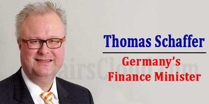Germany finance minister Thomas Schaffer