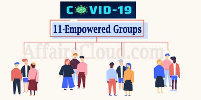 Government constitued 11 different empowered groups
