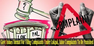 Govt Issues format For Filing Complaints Under Lokpal
