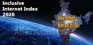 India ranked 46th out of 100 countries