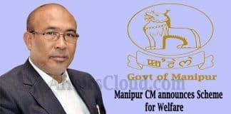 Manipur CM announces CMAST and CMAT scheme