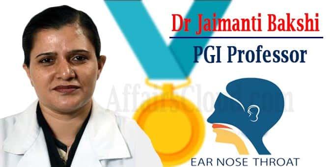 National award for PGI Professor