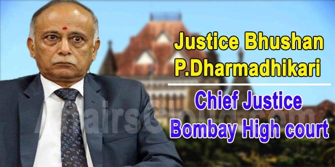 P Dharmadhikari Chief Justice of Bombay High Court