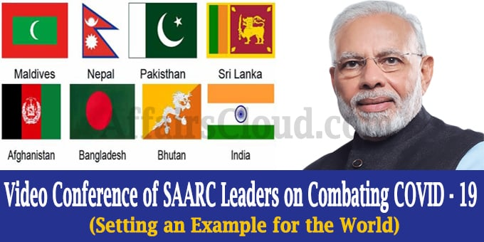 SAARC leaders on combating COVID- 19