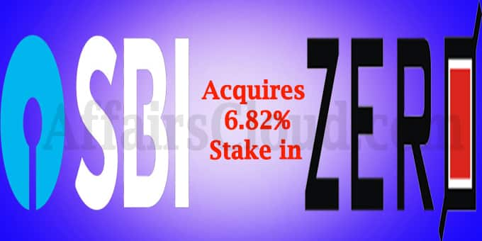 State Bank of India acquires stake in Zero Mass