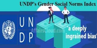 UNDP Gender Social Norms Index