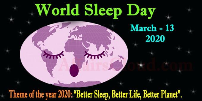 World sleep day 2020