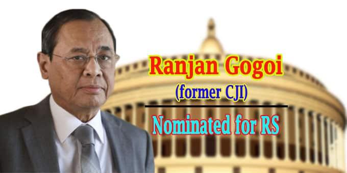 chief justice Ranjan Gogoi to Rajya Sabha