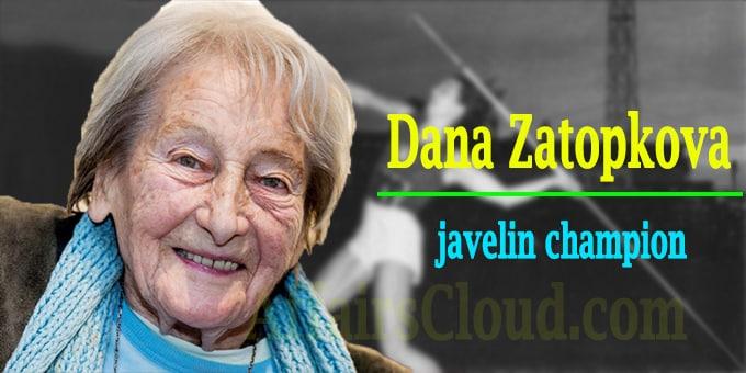 javelin champion Dana Zatopkova dies