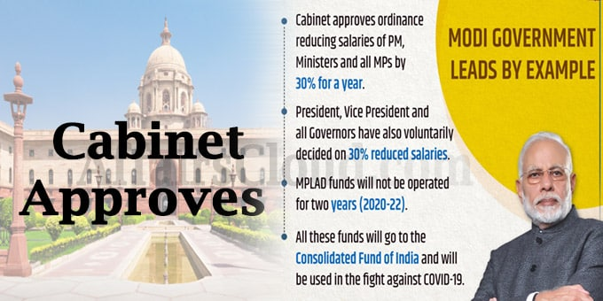 Cabinet approves ordinance to reduce salaries