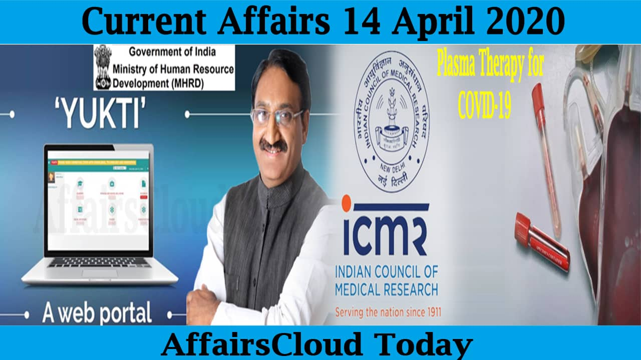Current Affairs April 14 2020