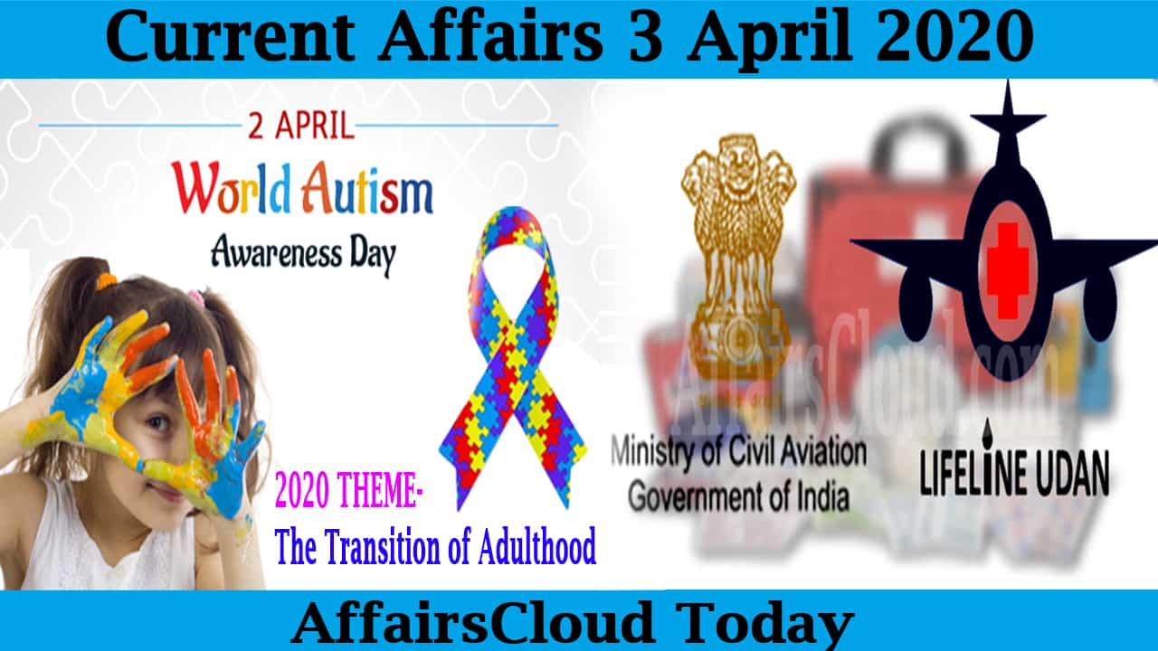 Current Affairs April 3 2020