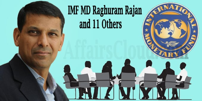 IMF MD Raghuram Rajan,11 others external advisory group