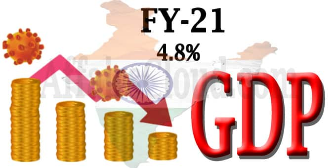 India's GDP for FY21 projected at 4