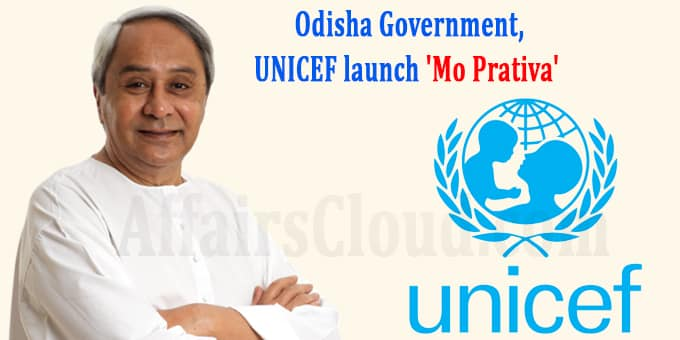 Odisha government, UNICEF launch Mo Prativa new